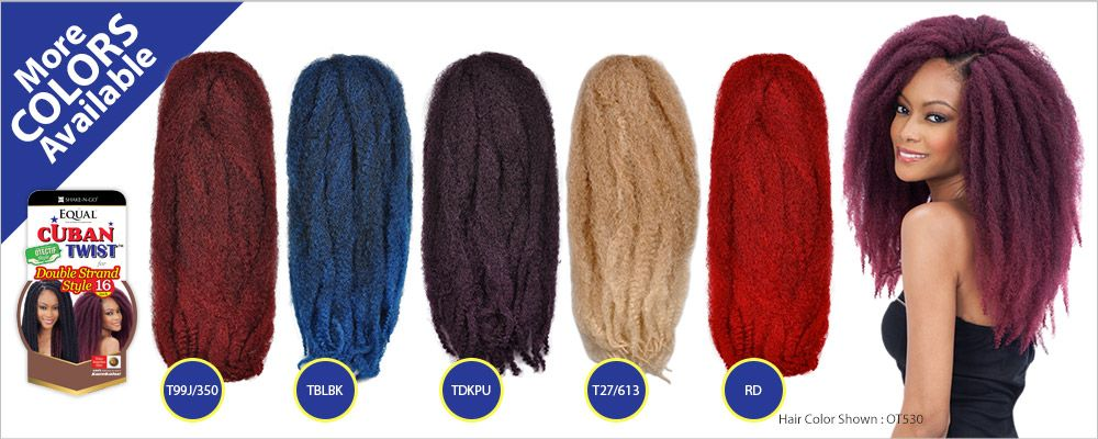 "Freetress Equal Synthetic Hair Braids Double Strand Style (Havana Twist) Cuban Twist Braid 16"" - Samsbeauty"