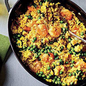 Shrimp with Lemon-Saffron Rice | CookingLight.com