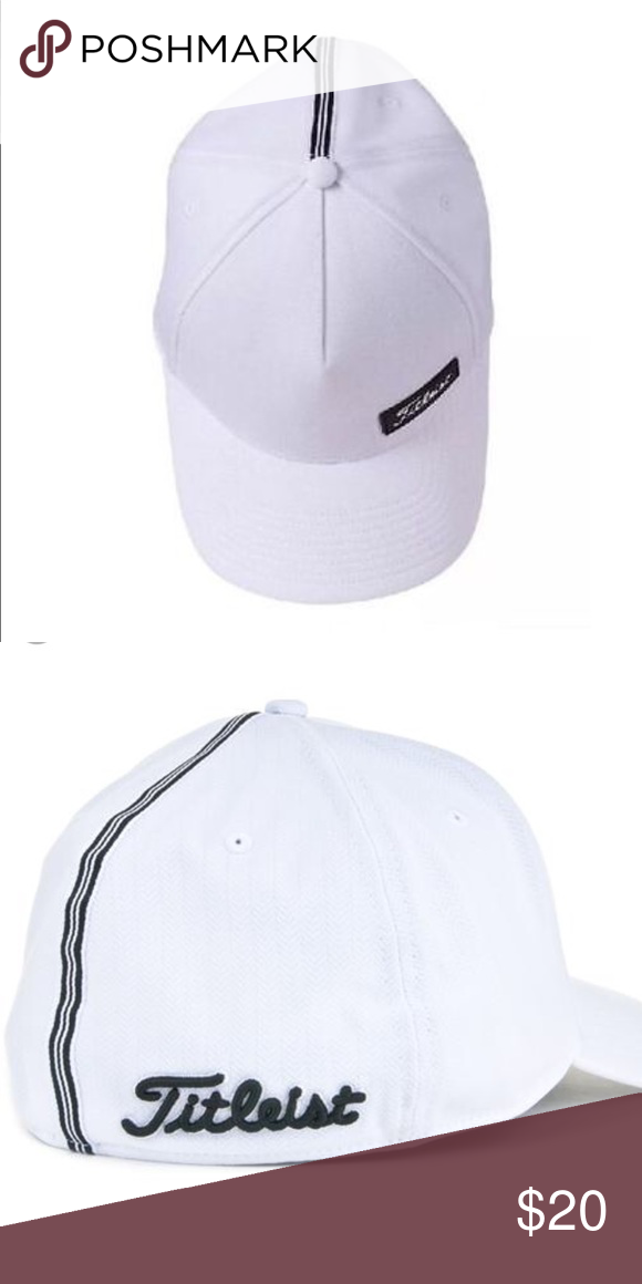 9d310661e96a3 Titleist West Coast Fitted Hat in White Classic white golf hat