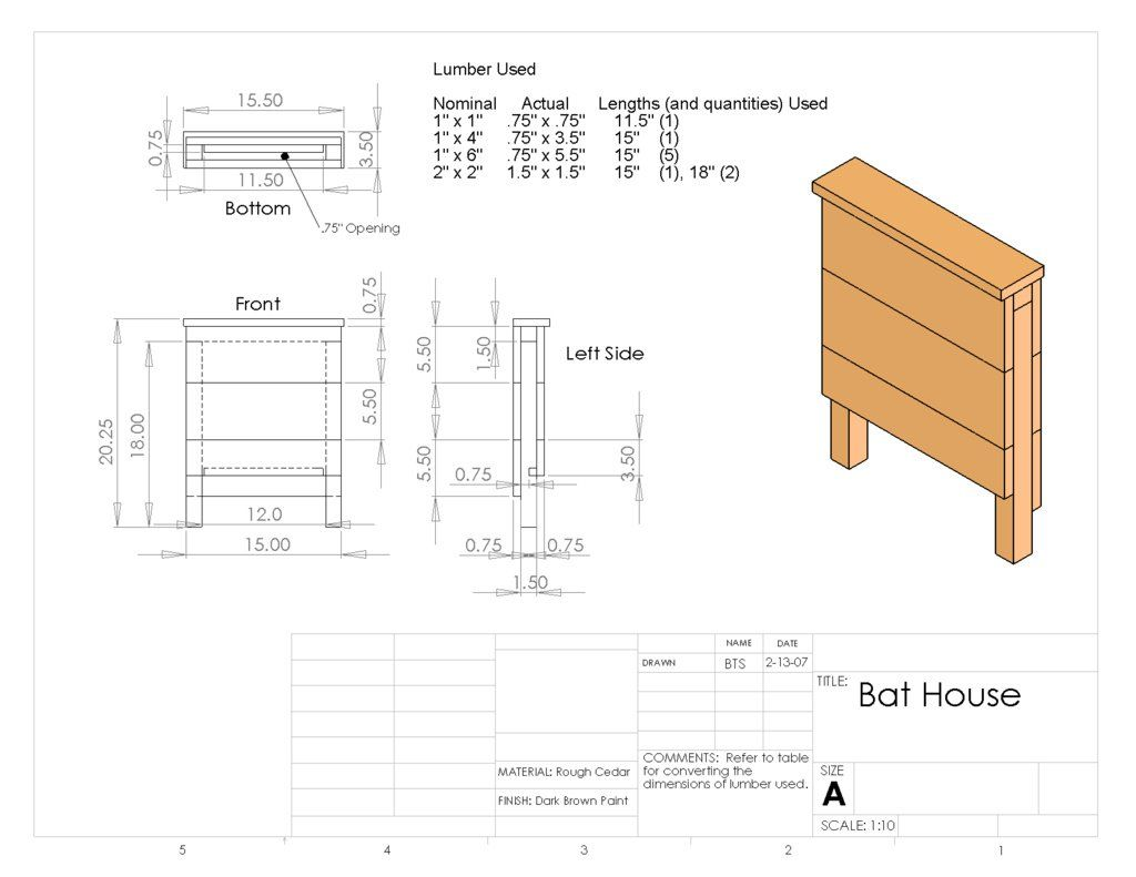 Diy bat house why build a house to attract bats to your for House plans to build