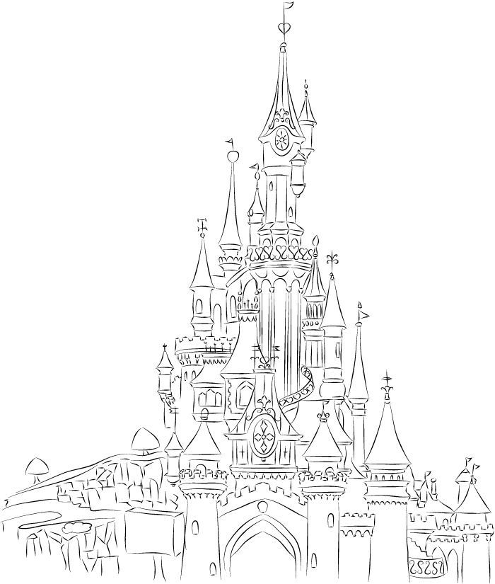 Disneyland Paris Castle Line Art by champk.deviantart.com on ...
