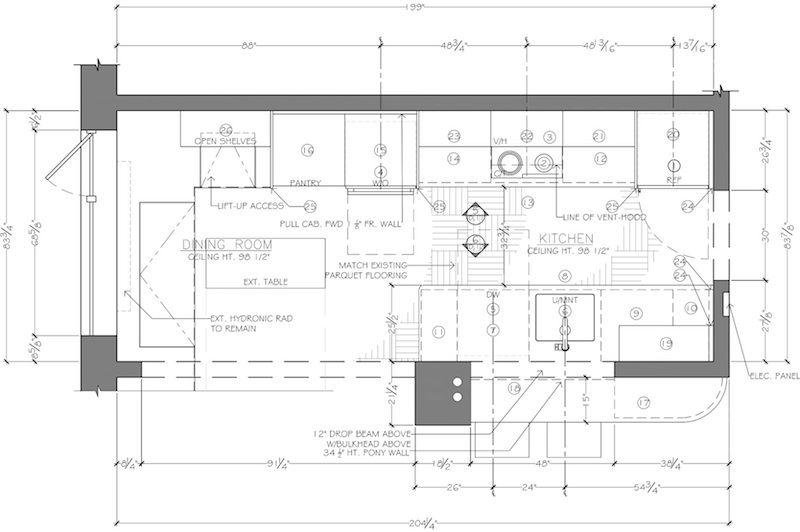 Floor Plan Construction Document Corey Klassen Interior