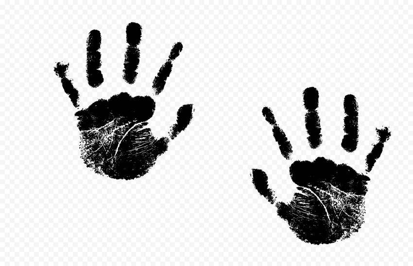 Hd Black Two Realistic Hand Print Png Png Print Realistic
