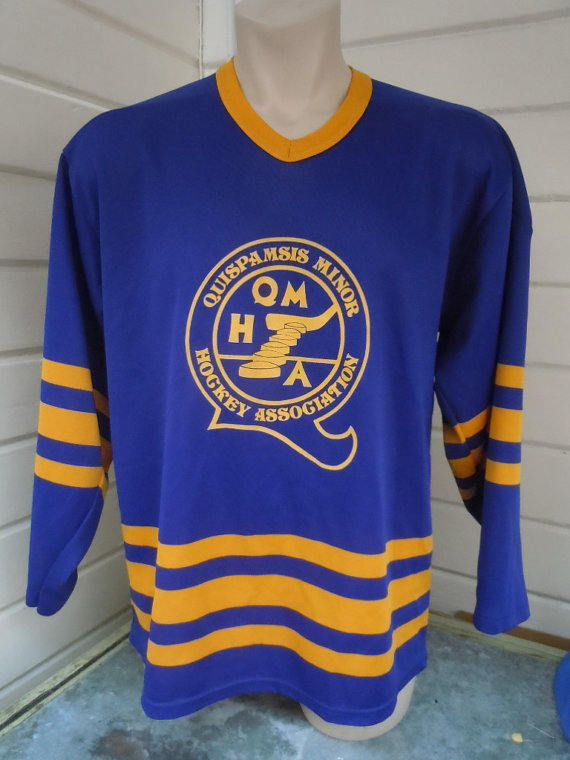Size XL (50) ** 1970s Quispamsis Hockey Jersey (Double Sided) JyZswc
