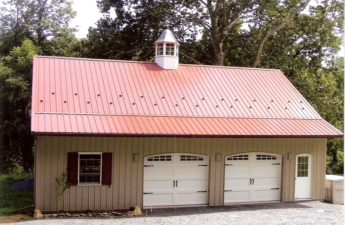 Steel Roof Installed By Amish