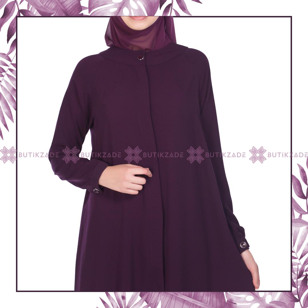 Onden Tek Dugmeli Ferace Murdum Fashion Nun Dress Dresses