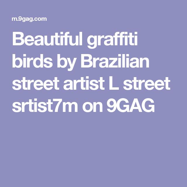 Beautiful graffiti birds by Brazilian street artist L street srtist7m on 9GAG