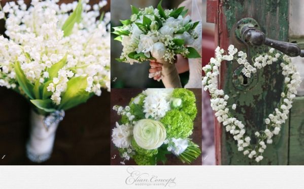 Lily Of The Valley Wedding Inspiration Muguet May Celebration