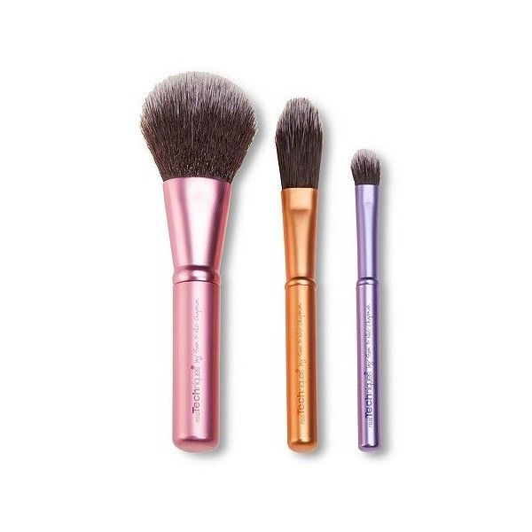 Real Techniques Mini Trio Brush Set (39.875 COP) ❤ liked on Polyvore featuring beauty products, makeup, makeup tools, makeup brushes, face brush, set of makeup brushes, foundation brush, facial brush and set of brushes