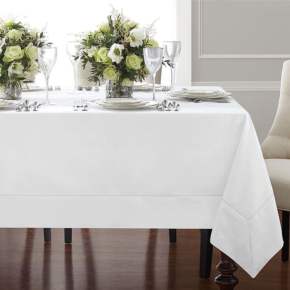 "Wamsutta Bordered Linen 70"" X 120"" Oblong Tablecloth In"