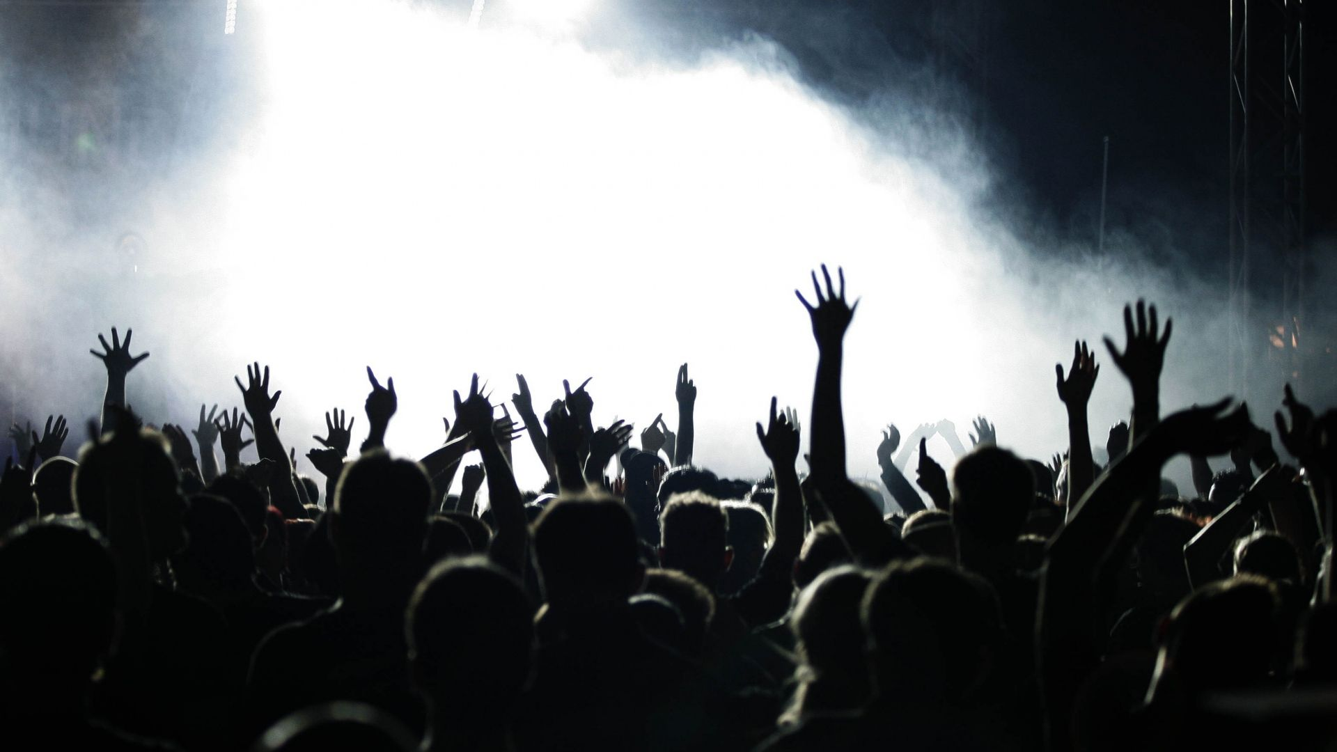 1920x1080 Wallpaper People Hands Concert Music Crowd En