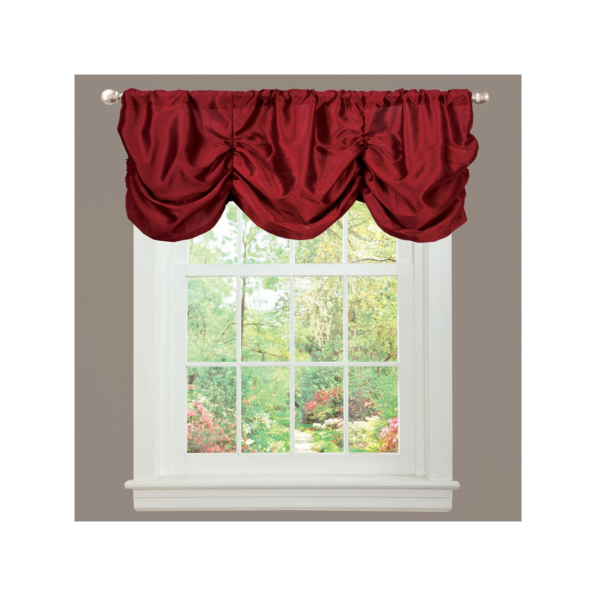 Garden window coverings  lush decor estate garden window valance red  garden windows