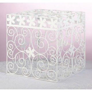 White Metal Wedding Card Box Daisydays