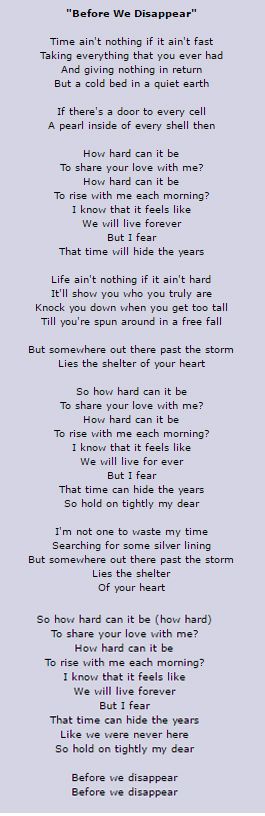 Before We Disappear Chris Cornell Lyrics This Song Makes Me Cry