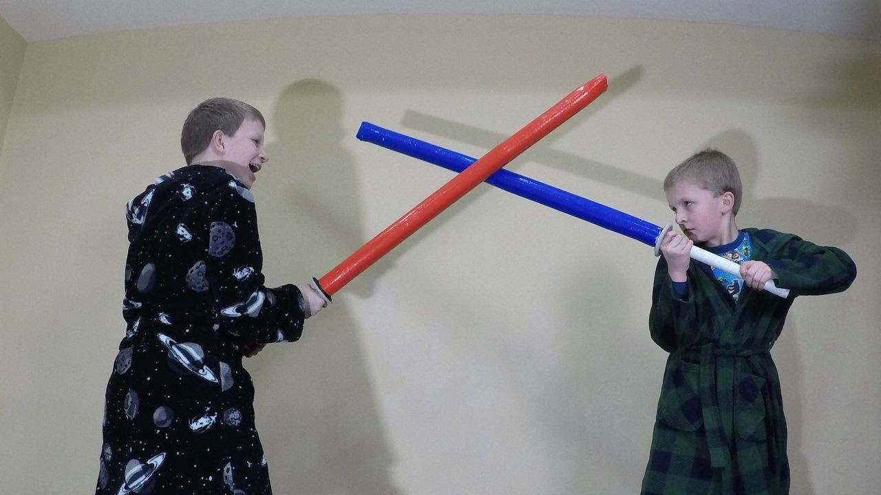 DIY $6 or less Padded Foam Lightsaber - Practice Sword