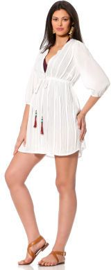 ed6614c459 A Pea in the Pod Pleated Maternity Swim Cover-up on shopstyle.com ...