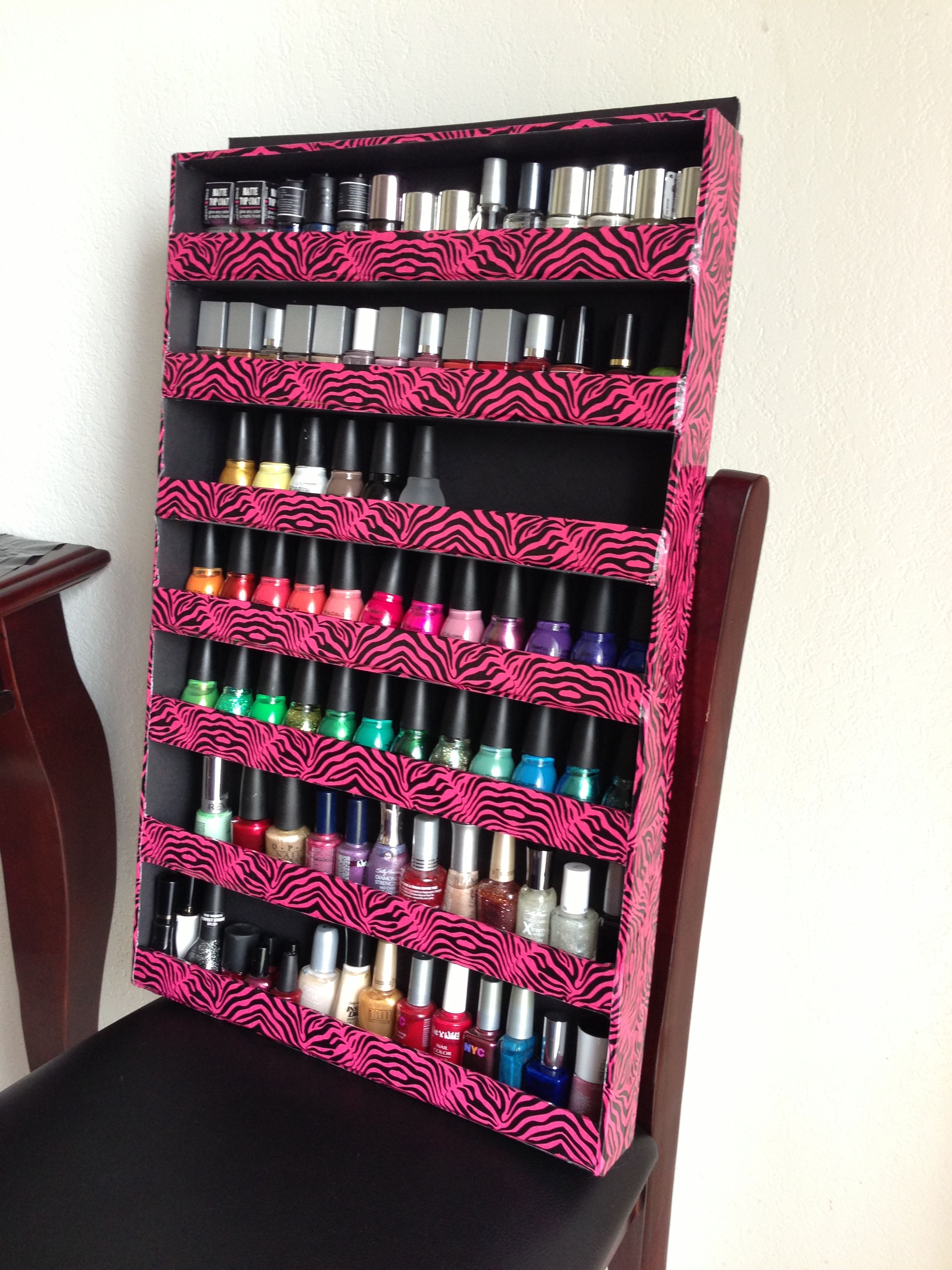 Easy Diy Nail Polish Rack Made From Foam Poster Board See Youtube