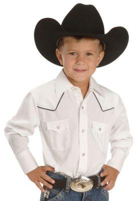 897a810cd little boys western wear   Ely Boys White Western Shirt - 2-16 ...