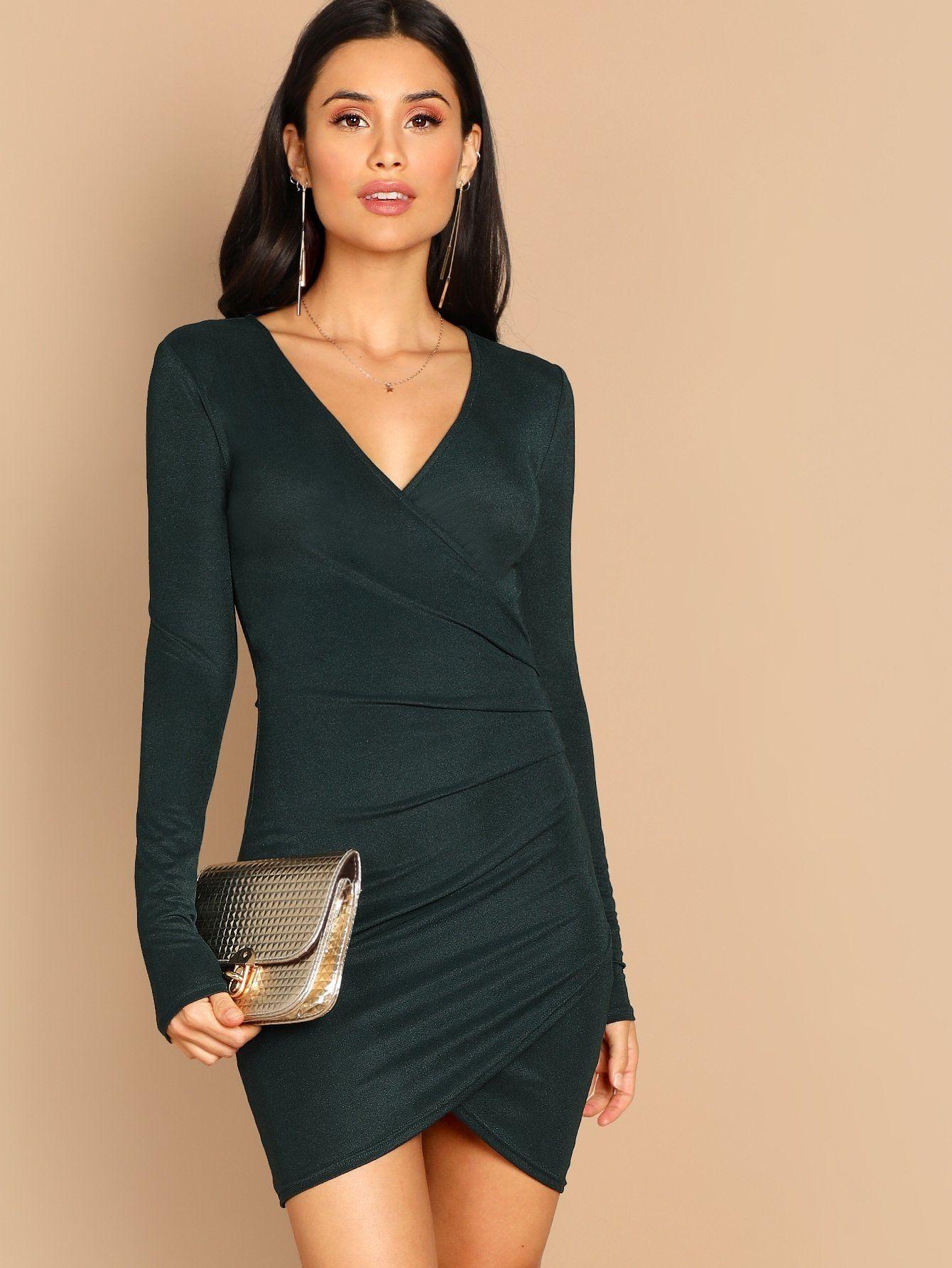da8a5af395 Ruched Wrap Bodycon Dress | Products | Pinterest | Bodycon Dress ...