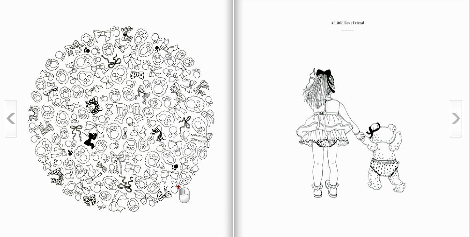 Hers Coloring Book By Suwa Anti Stress Art Therapy For Adult Fashionable Life 9788970597898