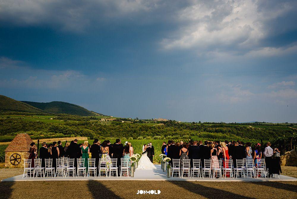 Borgo San Felice, Italy Wedding Photographer - Wedding Ceremony in Vineyard - #BorgoSanFelice #destinationWedding #TuscanyWedding #TuscanyWeddingPhotographer // www.jonmoldweddings.com