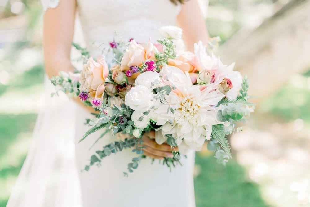 Elegant And Romantic Bridal Bouquet Temecula Creek Inn Compass Floral Wedding Florist In San Diego And Bridal Bouquet Summer Floral Wedding Mauve Wedding