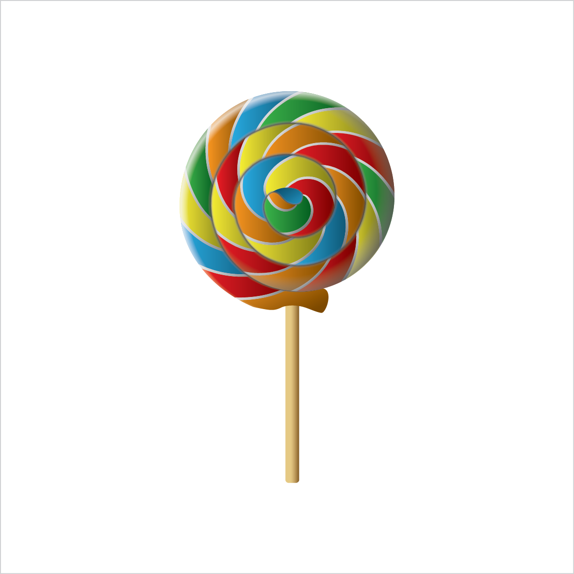롤리팝_lollipop.eps 색연필, 배경