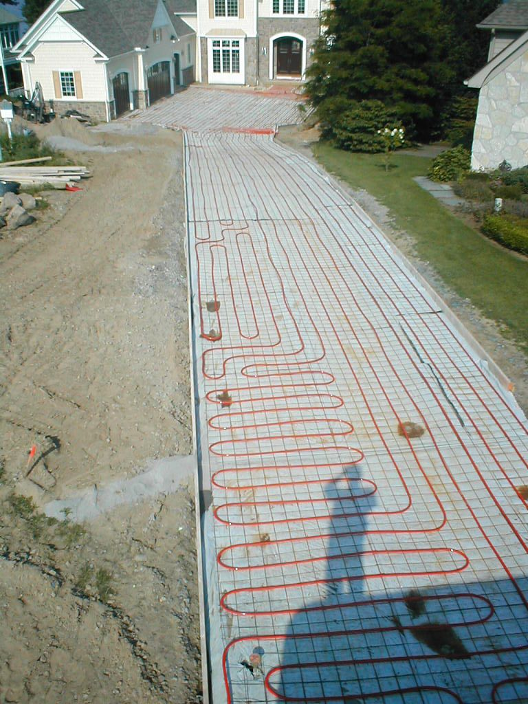 Hydronic Snowmelt System -- Perfect way to prevent ice from forming on your  driveway, walkway, STAIRS, or porch!   Heated driveway, Home construction,  DrivewayPinterest