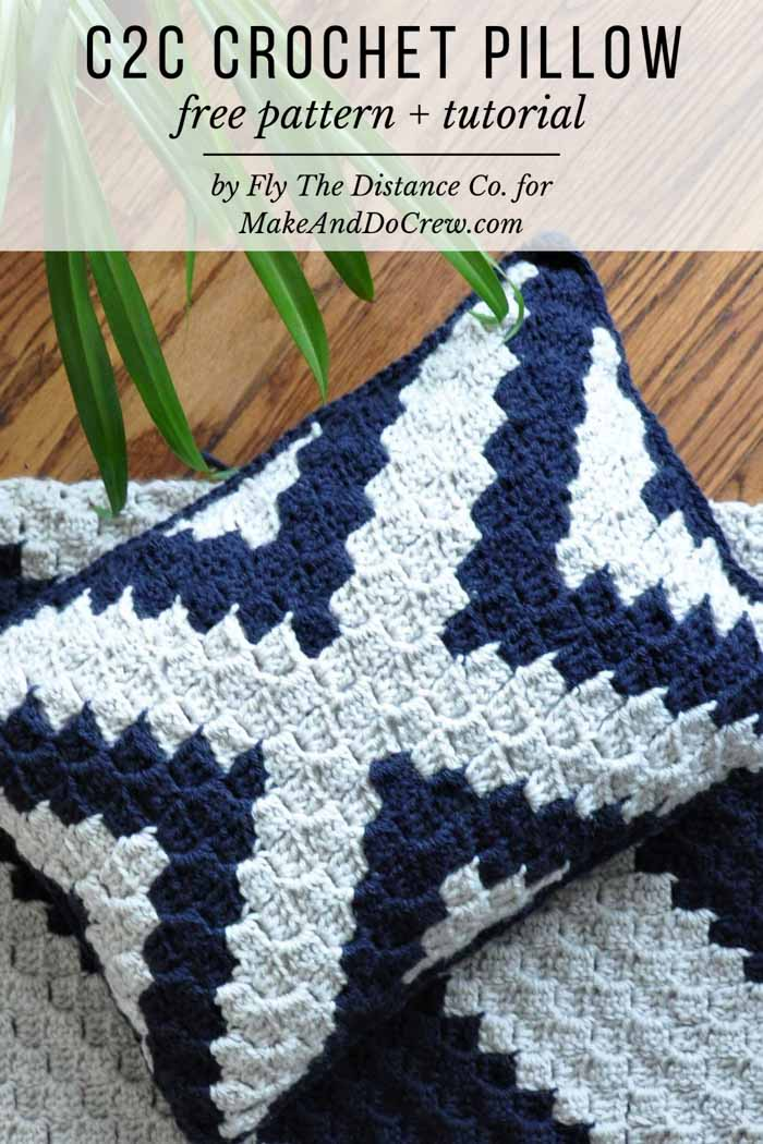 Modern, Boho Corner to Corner Crochet Pillow - Free Pattern + Tutorial! - Christina Binder - Modern, Boho Corner to Corner Crochet Pillow - Free Pattern + Tutorial!        Free corner to corner crochet pillow pattern that'll add modern boho style to any room. Tutorial, c2c graph and written pattern included!    Learn the rudiments of how to needlecraft (generic term),  at the very first. If you're brand new to crocheting, the vast array of  hooks, yarns, stitches, and patterns, including for af #diyyarnholder