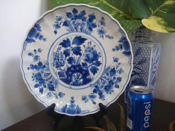 DELFTS BLAUW CHARGER Large Delft Chinois by GuamAntiquesNstuff