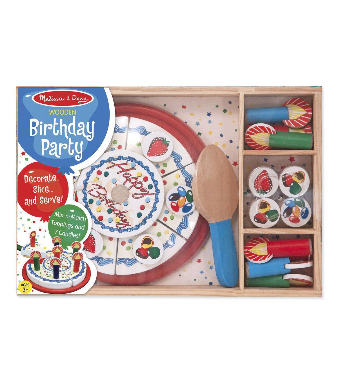 Melissa doug birthday party wooden play food birthday