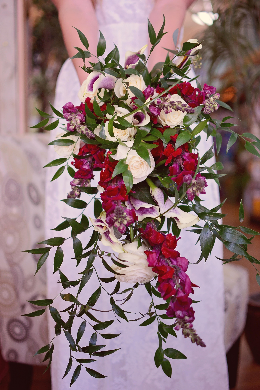 Cascading Bridal Bouquet by Golden Crown Guymon, OK Mini