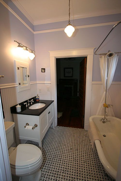 This Showcase Bathroom Is The Picture Of Historic Beauty. The Floor Is A  Gorgeous Black U0026 White Marble Basket Weave Pattern;