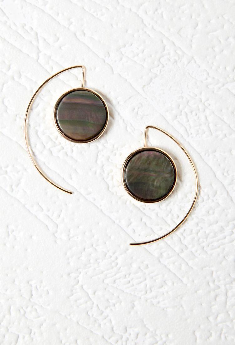 Iridescent Threader Earrings | Forever 21 - 1000096239