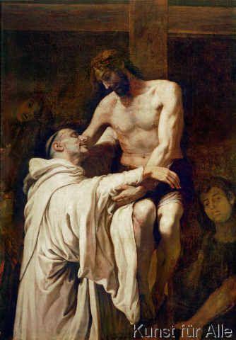 Francisco Ribalta - Christus umarmt den Heiligen Bernhard