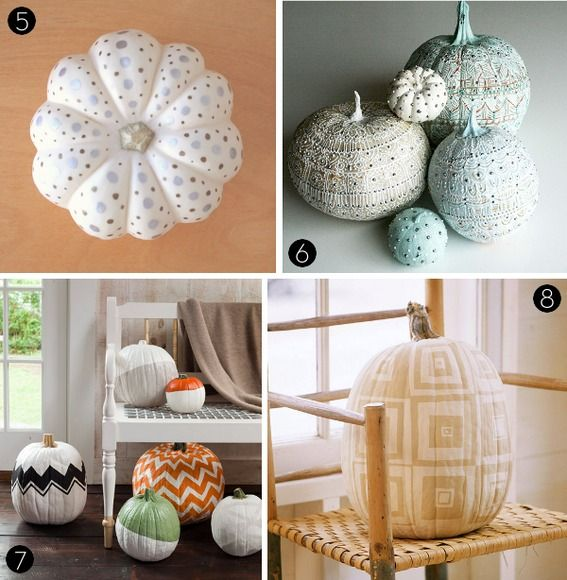 Pumpkin Decorating Ideas And My Curated Pumpkin Roundup: Roundup: 25 Awesome DIY No-Carve Pumpkin Ideas