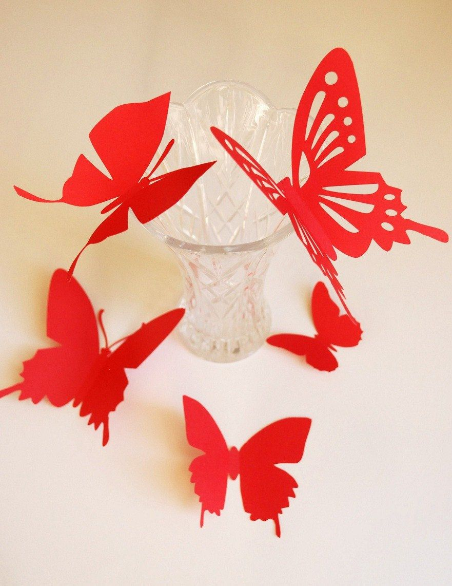 Butterfly Wall Art Stencil 3d butterfly wall art | Home ... for Butterfly Wall Art Stencil  584dqh