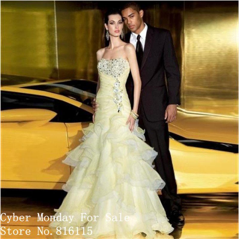 Charming Sicke Strapless Off the Shoulder Lange Prom Kleider Robe de ...