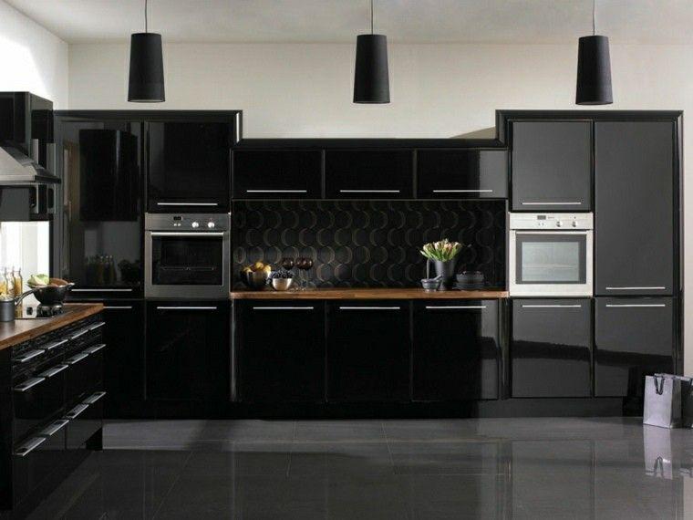 Magia negra en la cocina 50 ideas de muebles en negro   Muebles ...