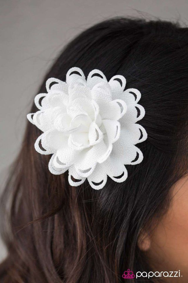 Foolish Behavior White Hair Clip | Paparazzi Accessories | $5.00