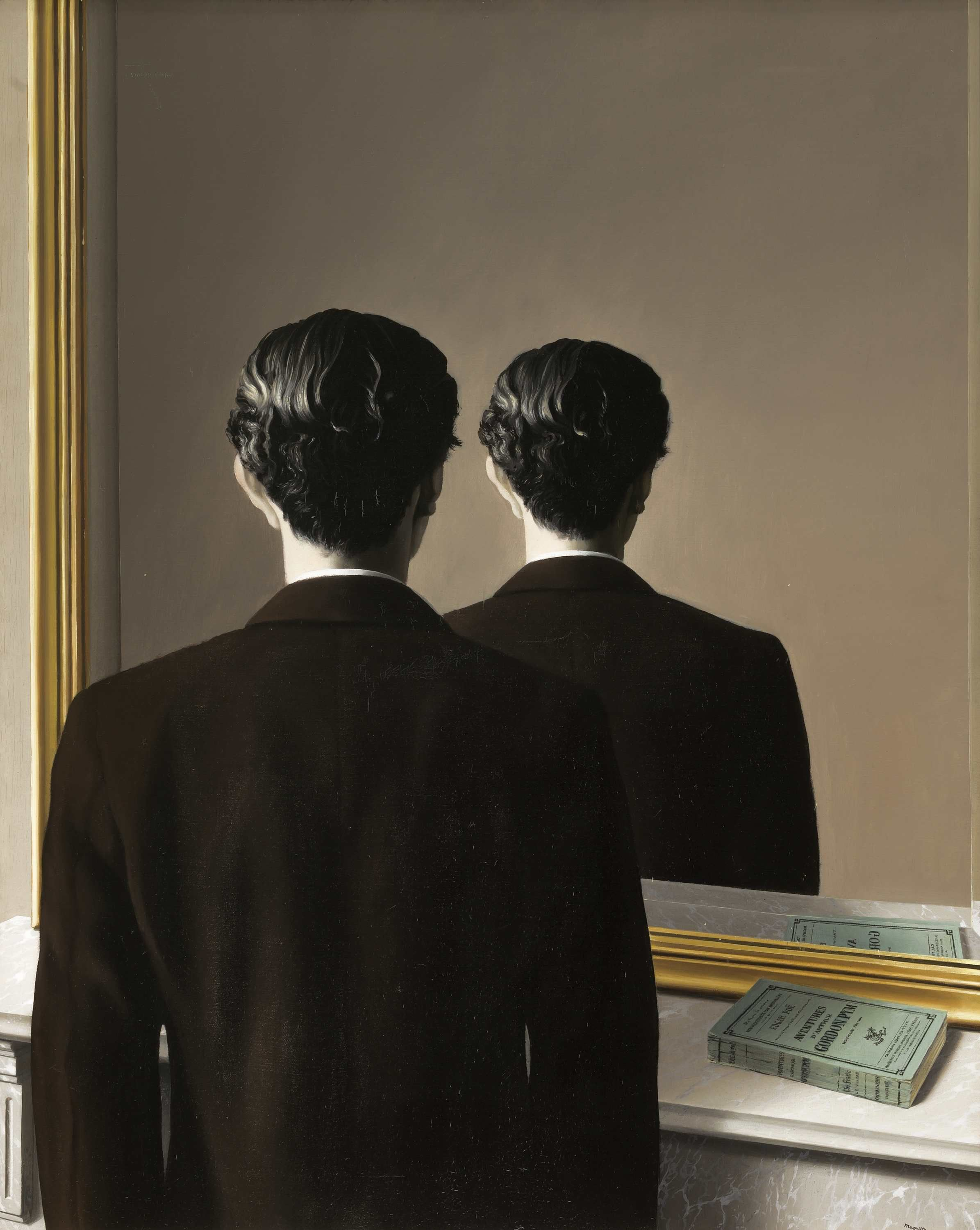Personality from behind Shot Idea (René Magritte Not