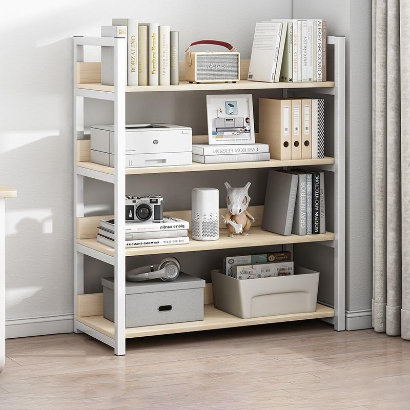 4 Tier Bookshelf Tall Wood Bookcase - White