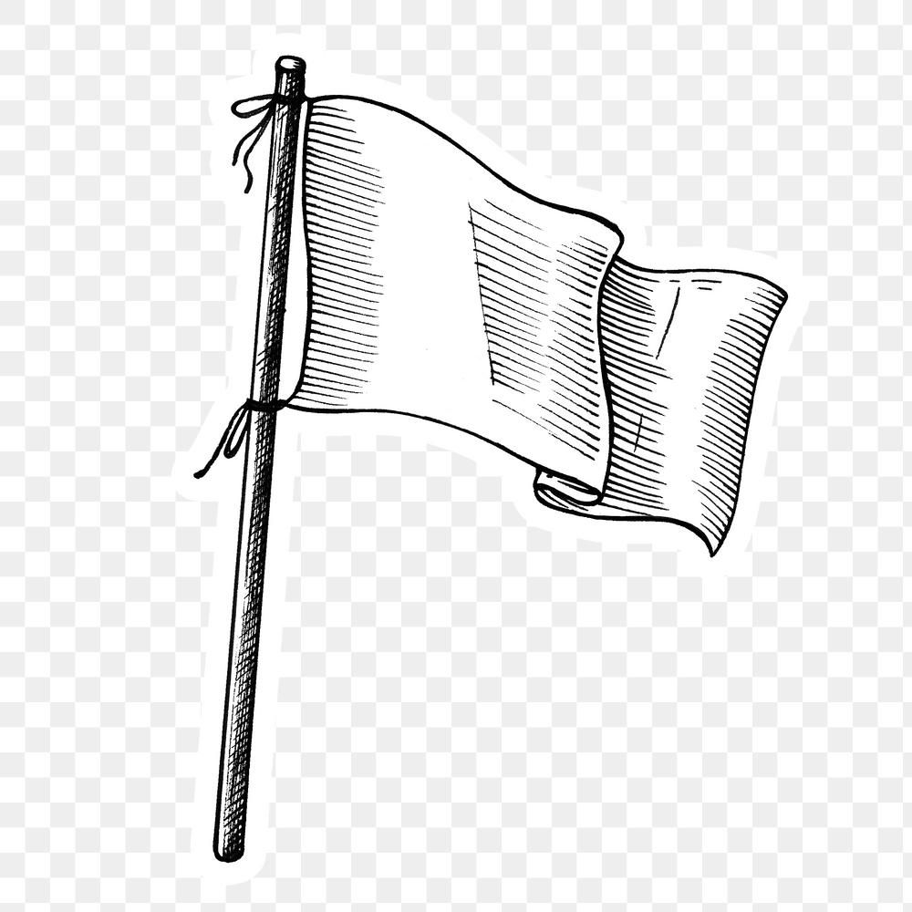 Hand Drawn White Flag Sticker Design Element Free Image By Rawpixel Com Hein Flag Design How To Draw Hands Flag Drawing