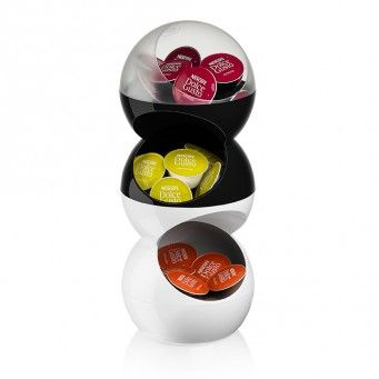 Capsule holder bubble extension black dolce gusto pinterest coffee - Porte capsule dolce gusto mural ...