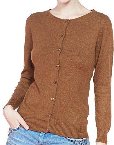 1dfa57f2ac6 LONGMING Women's 100 Cashmere Cardigan Slim fit Sweater for Winter ...