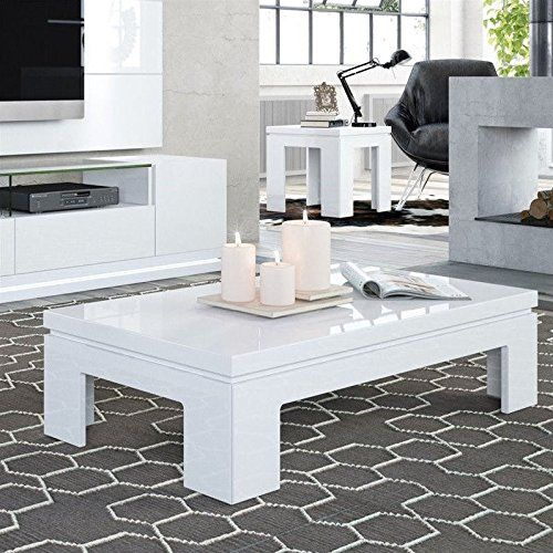 Manhattan Comfort Bridge Coffee Table And End Table Set In White