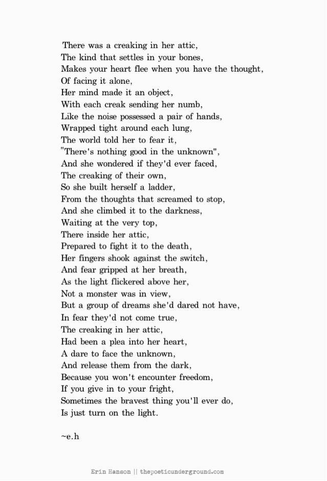 Creaking In Her Attic Eh Poems Erin Hanson Poems Poems
