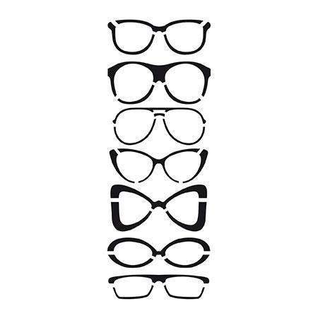 Dessin De Lunettes pochoir - 10 x 15 cm - lunettes | olhos para imprimir | pinterest