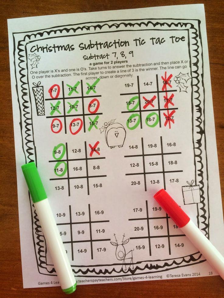 Christmas Math Games Second Grade: Fun Christmas Activities ...