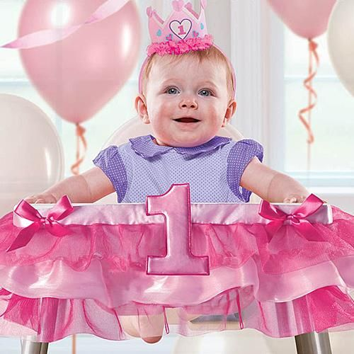 Pink Girls 1st Birthday Party High Chair Decorating Kit Unique